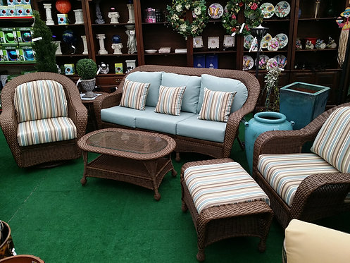 Resin Wicker 6pc Seating #32679
