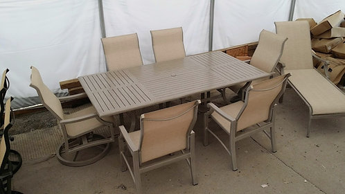 "7pc 84"" Rectangle Sling Dining Set #26853"