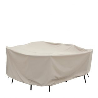 """60"""" Round/Square Table & Chairs Cover: 108″W x 36""""H"""