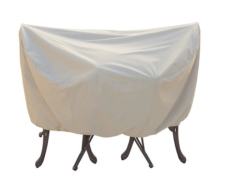 """Bistro /36"""" Round Dining/ up to 48"""" Round Firepit Cover: 48″W x 25""""H"""