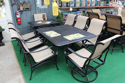 """76"""" to 100"""" Extendable Sling Dining Set #35543"""