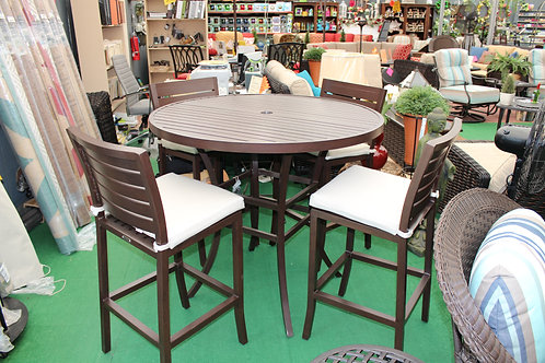 "48"" Round Cast Bar Height Dining Set #32258"