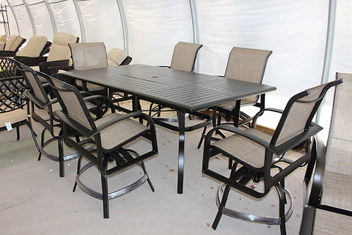 """7pc 84"""" Rectangle COUNTER HEIGHT Sling Dining #29099"""