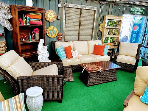 5pc Resin Wicker Seating Group #29000