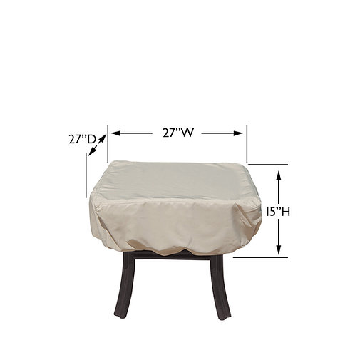 """Square / Round End Table Cover  27″W x 27""""D x 15""""H"""