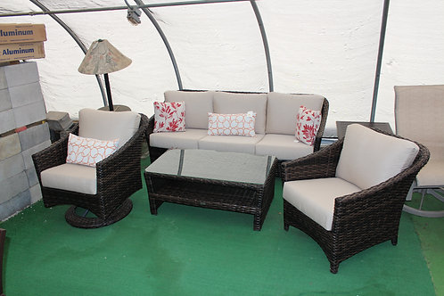 4pc Resin Wicker Seating #32062 (Order 4-6 Weeks)