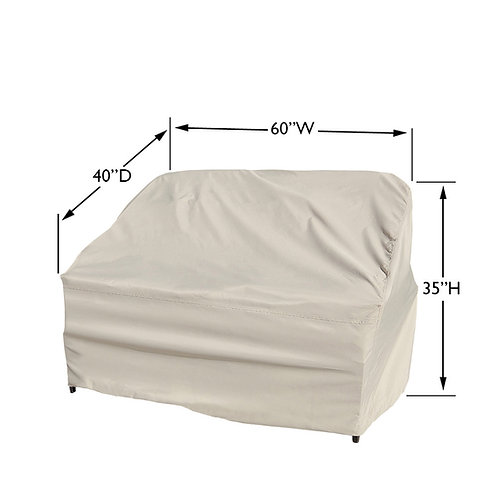 Large Loveseat Cover Measures:  60″ W x 40″ D x 35″ H