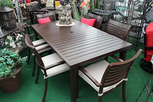 "84"" Rectangle Cast Dining Set #32254"
