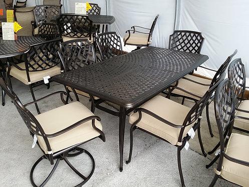 "72"" Rectangle Cast Aluminum Dining #32467"