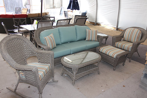 6pc Resin Wicker Seating Group #32682