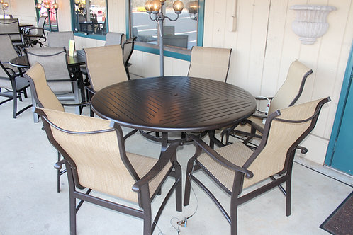 "7pc 60"" Round Sling Dining #29134"