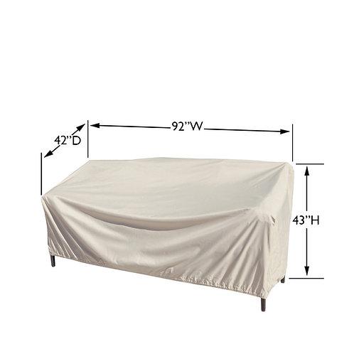XL Sofa Cover Measures:  92″ W x 42″ D x 43″ H