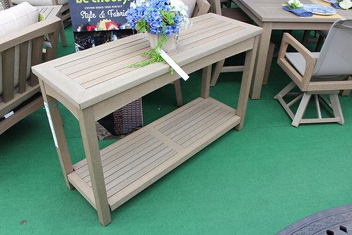 Faux Teak Sofa Serving Table #30766