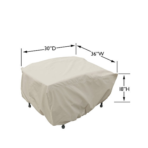Ottoman / Small Table / Firepit Cover  36″W x 30″D x 18″H