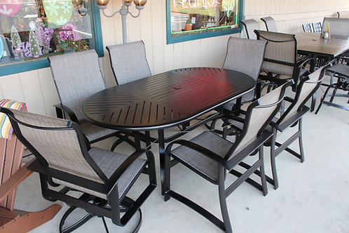 "7pc. 76"" Oval Sling Dining Set #29070"