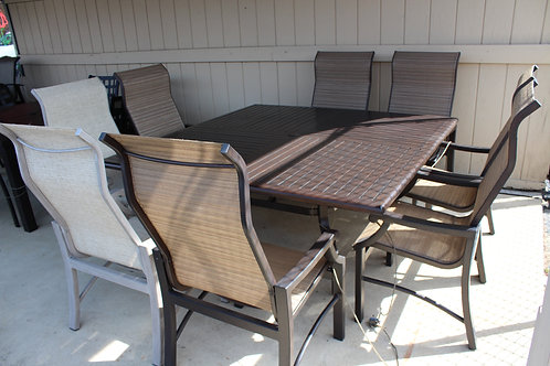 """9pc 66"""" Square Sling Dining #26844"""