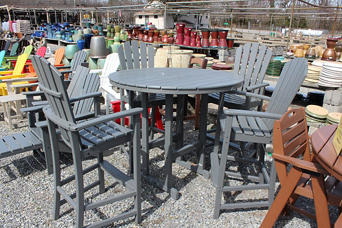"""Polywood 5pc 48"""" Round Bar Height Dining Set #30892 (Order 3 Weeks)"""