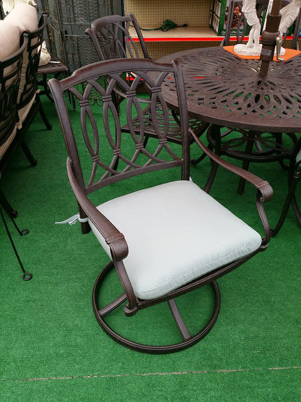 Cast Aluminum Swivel Rocking Dining Chair #34645
