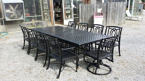 "11pc 112"" Rectangle Cast Aluminum Dining #39922"