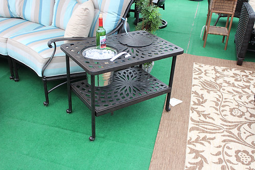 Rectangle Ice Bucket End Table #35529