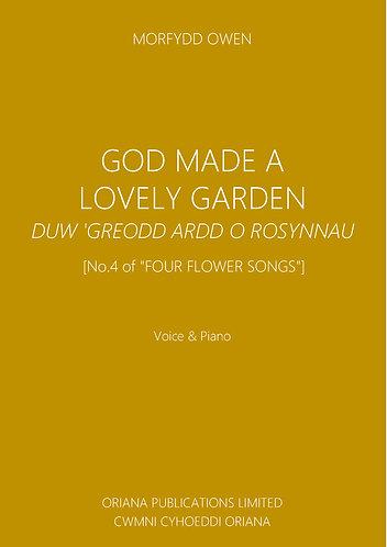 MORFYDD OWEN: God Made a Lovely Garden/Duw 'Greodd Ardd o Rosynnau