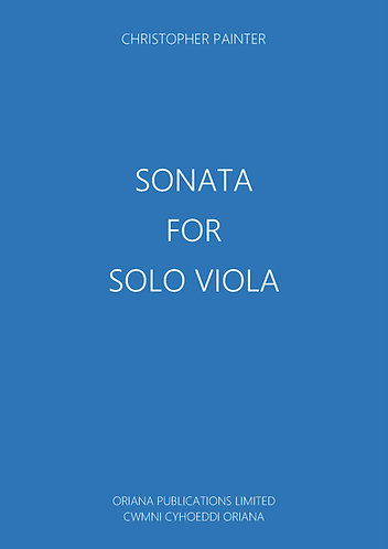 CHRISTOPHER PAINTER - Sonata for Solo Viola