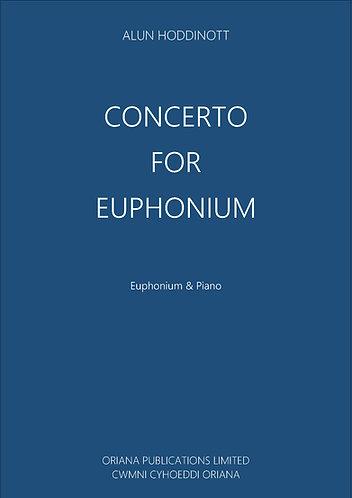 ALUN HODDINOTT: Concerto for Euphonium [Piano reduction]
