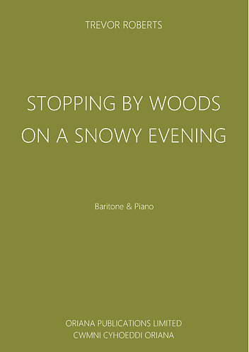 TREVOR ROBERTS: Stopping By Woods On A Snowy Evening