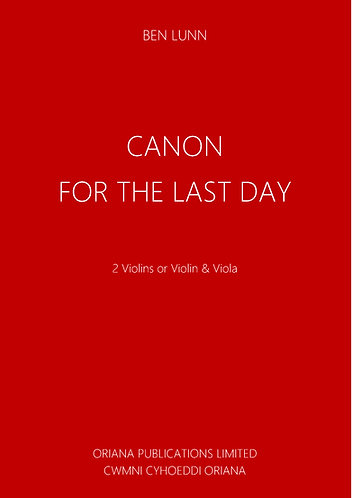 BEN LUNN: Canon for the Last Day