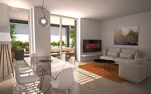 Render appartamento Abitate nel verde e nel sole