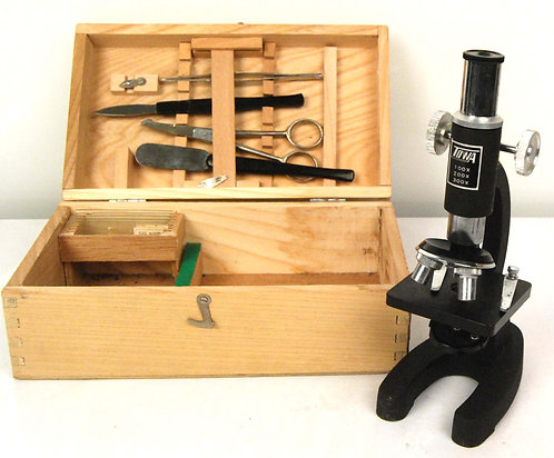 Vintage 1960s Towa MICROSCOPE Kit in Box