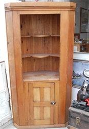Antique Pine Corner Cupboard cabinet