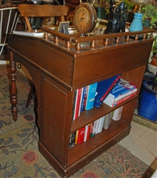 "Vintage ""lift top"" Desk with back in bookcase"