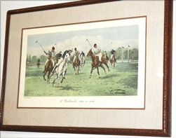 Vintage (COLOR ETCHING) POLO HORSES