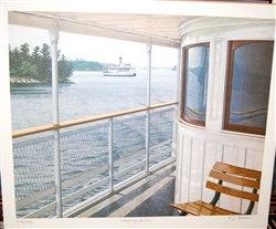 T.S. Black Painting of Famous Muskoka Steamship The Segwun