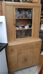 Funky 1930's Display Kitchen Cabinet