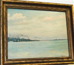 Original Oil Painting ~ S.B. HATCH ~ Toronto LakeShore