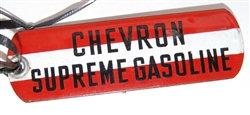 CHEVRON GASOLINE ~ OIL AND GAS TAG PUMP SIGN
