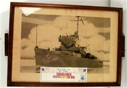 METALS & AWARDS ~ 1945 Liberty Pictures Co. USS Scurry Downed Planes + Photograp