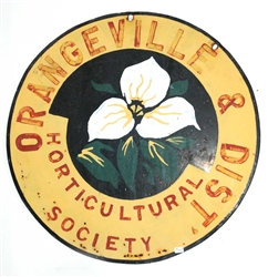 Hand Painted Porcelain Sign - Orangeville Horticultural Society
