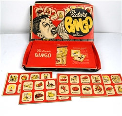 Funky vintage Picture Bingo Peter Austin Board Game