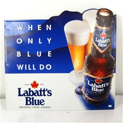 Vintage Tin Sign Labatt Blue Beer Ad 1993 - Excellent Condition