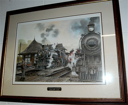 "Orangeville Train Station - Folkins - 19"" x 36"""