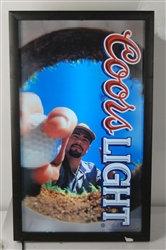 Back Lite Vintage Coors Light Beer / Golf Sign Ad - MINT