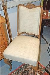 "Vintage ""Queen Anne"" Chair w/ scallop top"