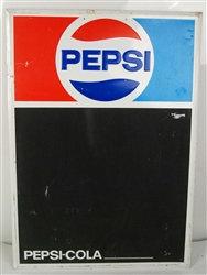 Vintage 1970's Pepsi Cola Chalkboard Sign - Excellent Condition