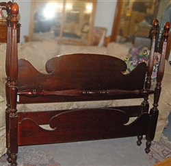 "Vintage ""Canadian Heritage"" Gibbard Complete Double Bed Head Foot board"