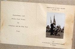 Framed Governor General Canada w/ photo ~ X-mas Card 1932