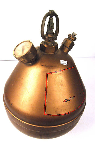 Globe brass hanging sprinkler style fire extinguisher
