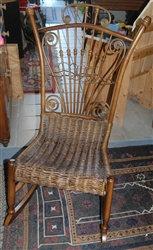 Antique Poker Worker Rocking Chair